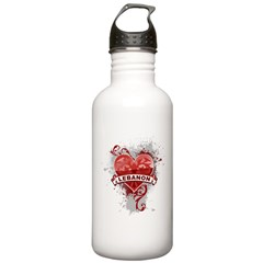 Heart Lebanon Water Bottle