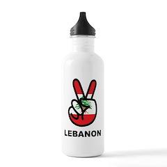 Peace In Lebanon Water Bottle