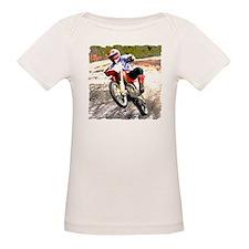 Dirt bike wheeling in mud Tee