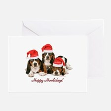 Basset Hound Christmas Greeting Cards (Pk of 10)