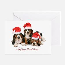 Basset Hound Christmas Greeting Cards (Pk of 20)