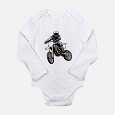Playing in the dirt Long Sleeve Infant Bodysuit