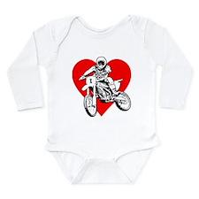 """""""I love dirt biking"""" (Red) Long Sleeve I"""