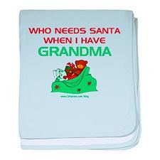 Santa Grandma baby blanket