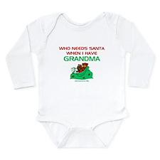 Santa Grandma Long Sleeve Infant Bodysuit