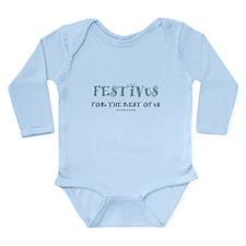 Festivus Long Sleeve Infant Bodysuit