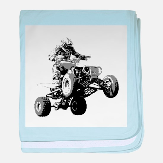 ATV Racing baby blanket
