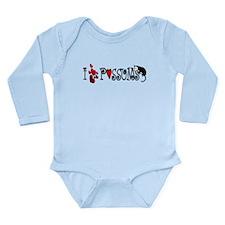 I Love Hearts Possums Long Sleeve Infant Bodysuit