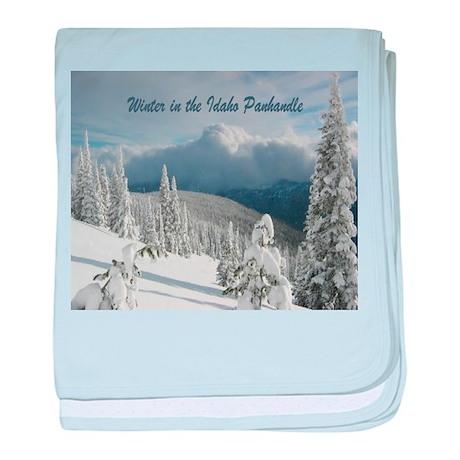Winter in the Idaho Panhandle baby blanket