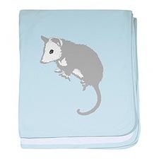 Possum Silhouette baby blanket