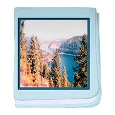 Beauty Bay, Lake Coeur d'Alen baby blanket