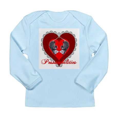 Possumbilities Valentines Day Long Sleeve Infant T