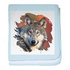 Gray Wolf baby blanket
