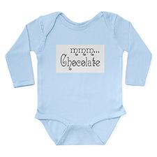 mmm... Chocolate Long Sleeve Infant Bodysuit