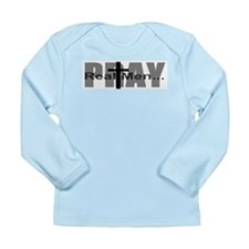 Real Men Pray Long Sleeve Infant T-Shirt