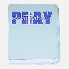 Real Men Pray - Grape baby blanket