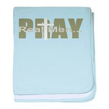 Real Men Pray - Olive baby blanket