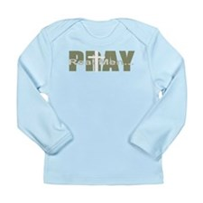 Real Men Pray - Olive Long Sleeve Infant T-Shirt