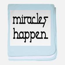 Miracles Happen baby blanket