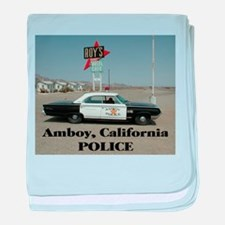 Amboy Police baby blanket