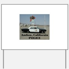 Amboy Police Yard Sign