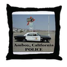 Amboy Police Throw Pillow