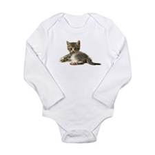 """Meow"" Long Sleeve Infant Bodysuit"