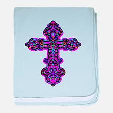 Ornate Cross baby blanket