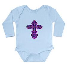 Ornate Cross Long Sleeve Infant Bodysuit