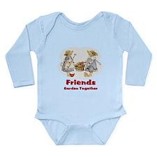 Friends Garden Together Long Sleeve Infant Bodysui
