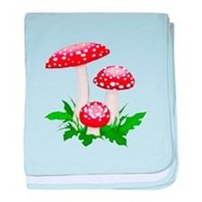 Red Mushrooms baby blanket