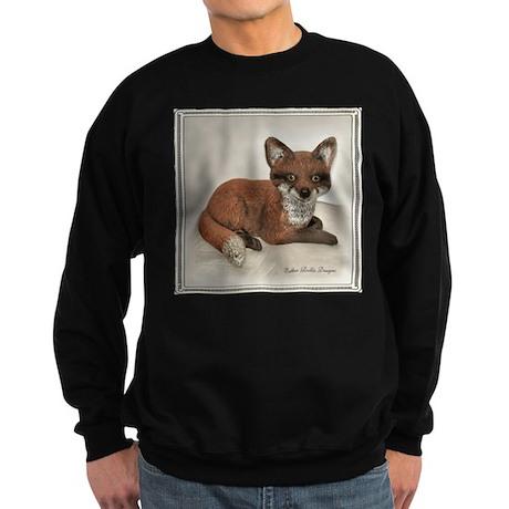 Fox Resting Design Sweatshirt (dark)