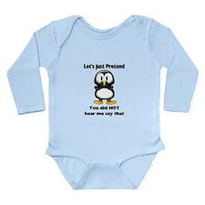 Pretend Penguin Long Sleeve Infant Bodysuit