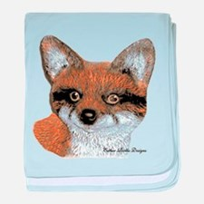 Fox Portrait Design baby blanket