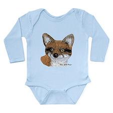 Fox Portrait Design Long Sleeve Infant Bodysuit