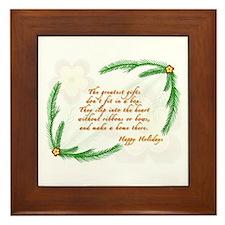 Cute Tree poem Framed Tile