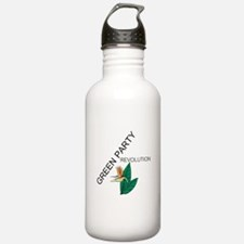 Green Party Water Bottle