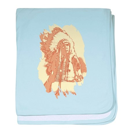 Indian Chief baby blanket