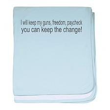 Keep The Change baby blanket