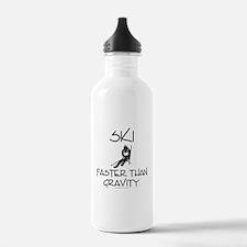 Ski Faster Than Gravit Water Bottle