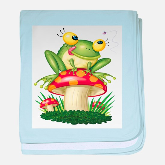 Frog & Toad stool baby blanket