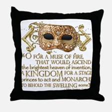 Henry V Quote Throw Pillow