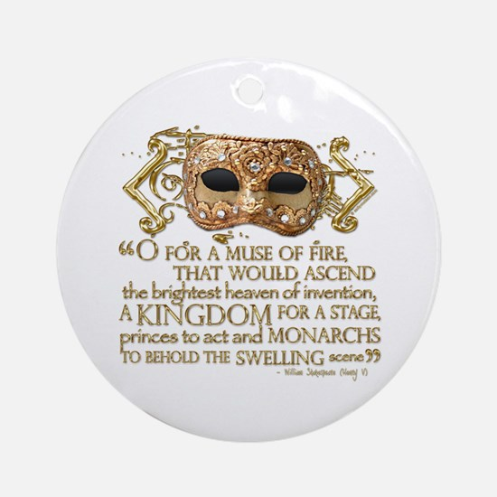 Henry V Quote Ornament (Round)