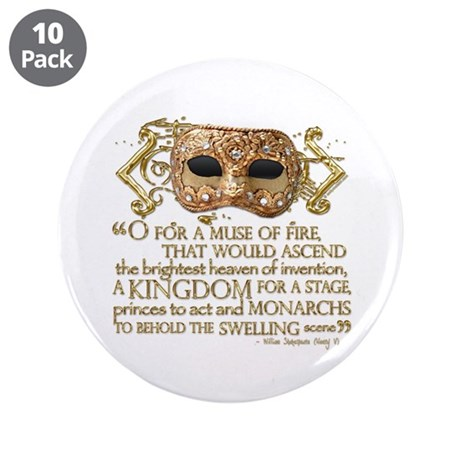 """Henry V Quote 3.5"""" Button (10 pack)"""