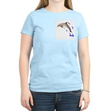 Dolphine's Cove Women's Pink T-Shirt
