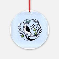 Pear Partridge Ornament (Round)