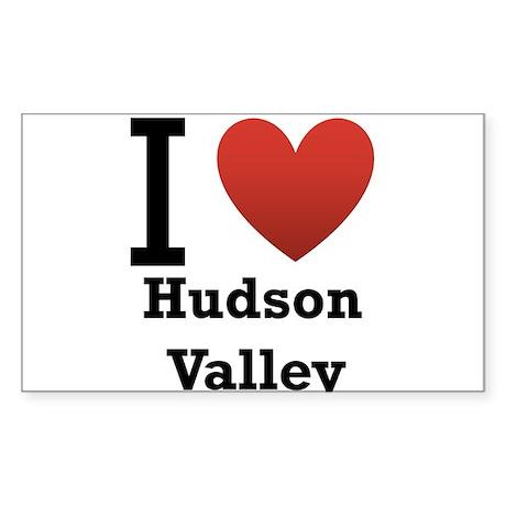 I Love Hudson Valley Sticker (Rectangle)