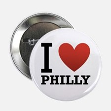 """I Love Philly 2.25"""" Button"""
