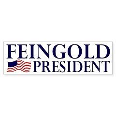 Feingold for President Flag Bumper Bumper Sticker