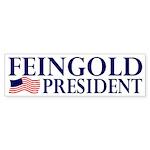 Feingold for President Flag Bumper Sticker